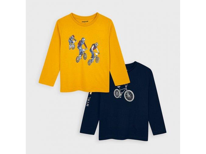 Chlapecké triko s dlouhým rukávem 2 ks  Mayoral 4047