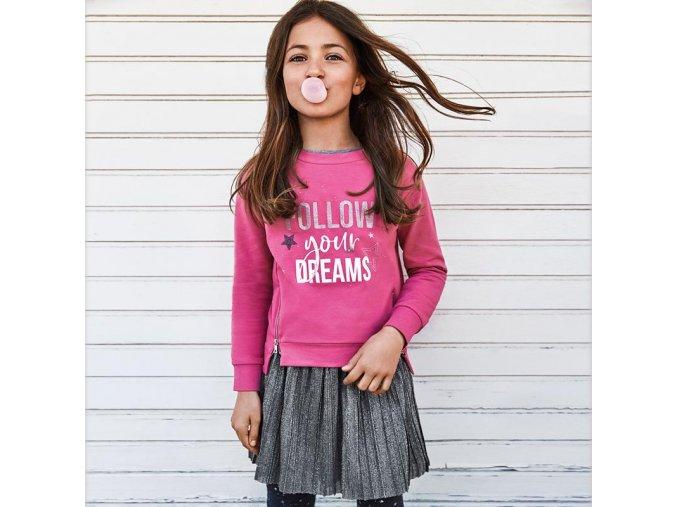 Dívčí šaty s mikinou Mayoral 7965