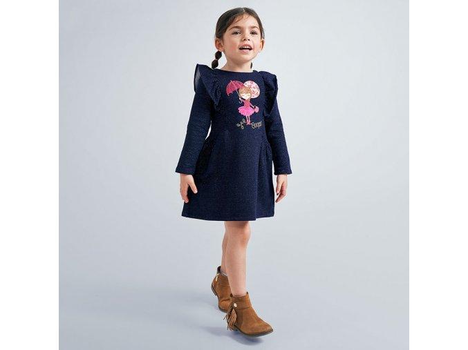 Dívčí teplejší šaty s dlouhým rukávem Mayoral 4982