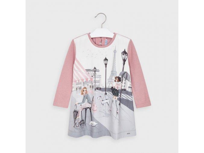 Dívčí teplejší šaty s dlouhým rukávem Mayoral 4987
