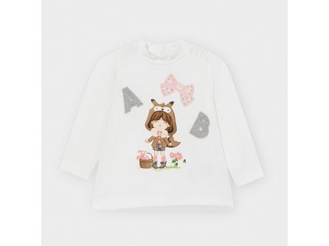 Dívčí triko s dlouhým rukávem Mayoral 2052