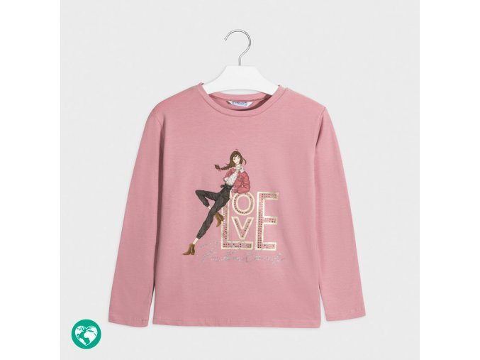 Dívčí triko s dlouhým rukávem Mayoral 7068 R