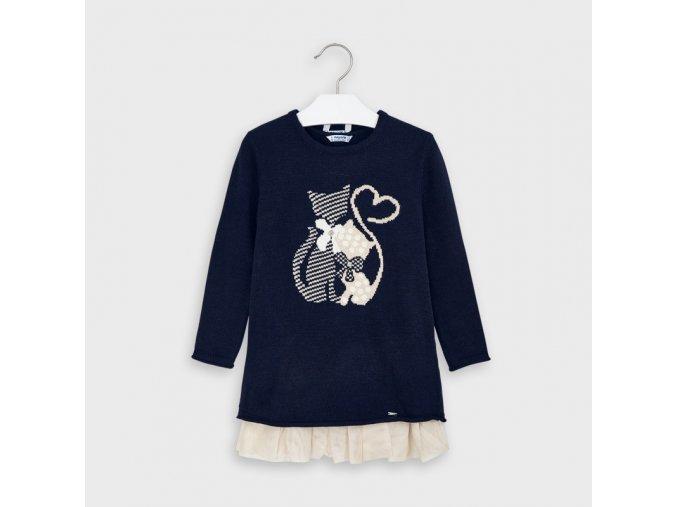Dívčí pletené šaty Mayoral 4956