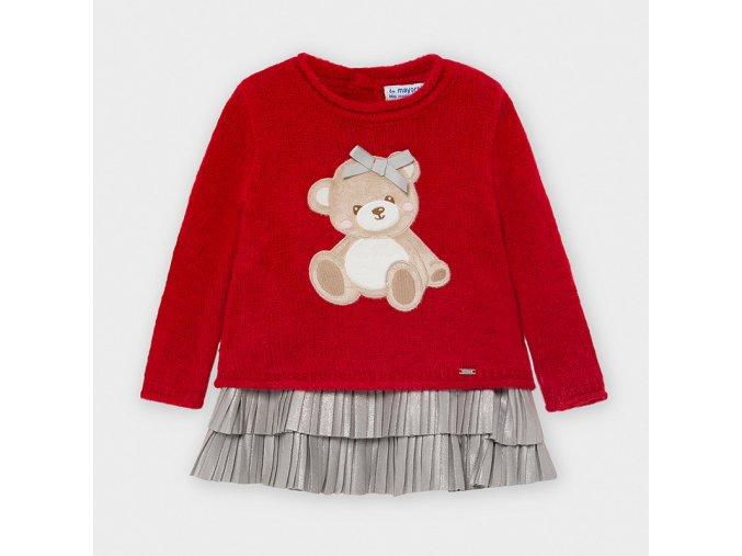 Dívčí zimní šaty se svetrem Mayoral 2948