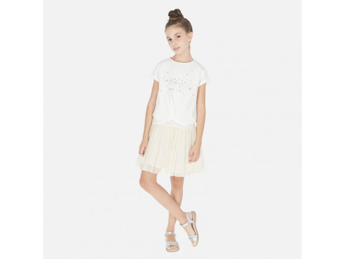 Dívčí letní šaty s tunikou Mayoral 6986