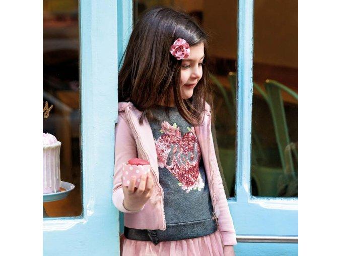 Dívčí mikina s kapucí Mayoral 4424
