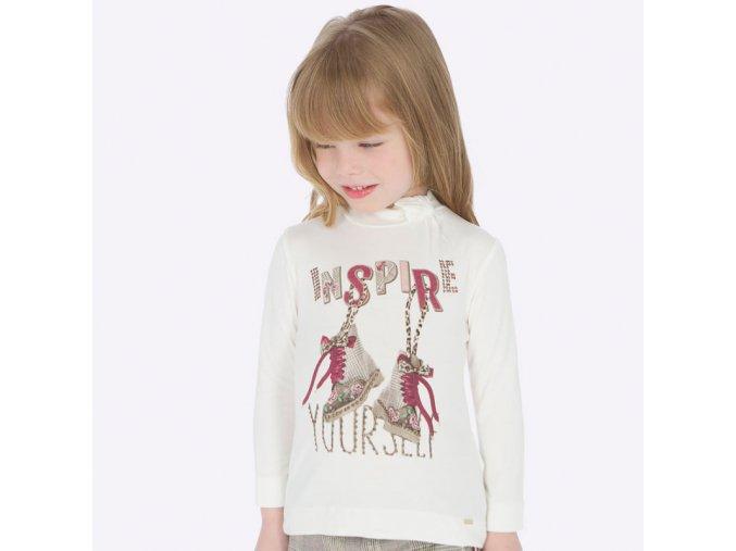 Dívčí triko s dlouhým rukávem Mayoral 4001