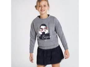 Dívčí mikina s potiskem Mayoral 7401