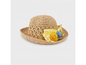 Dívčí letní slaměný klobouk Mayoral 10081
