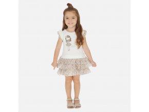 Dívčí letní šaty s volánkovou sukní Mayoral 3945