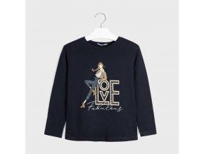 Dívčí triko s dlouhým rukávem Mayoral 7068