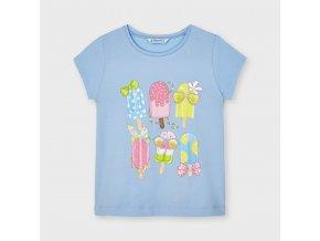 Dívčí triko s krátkým rukávem a potiskem Mayoral 3020