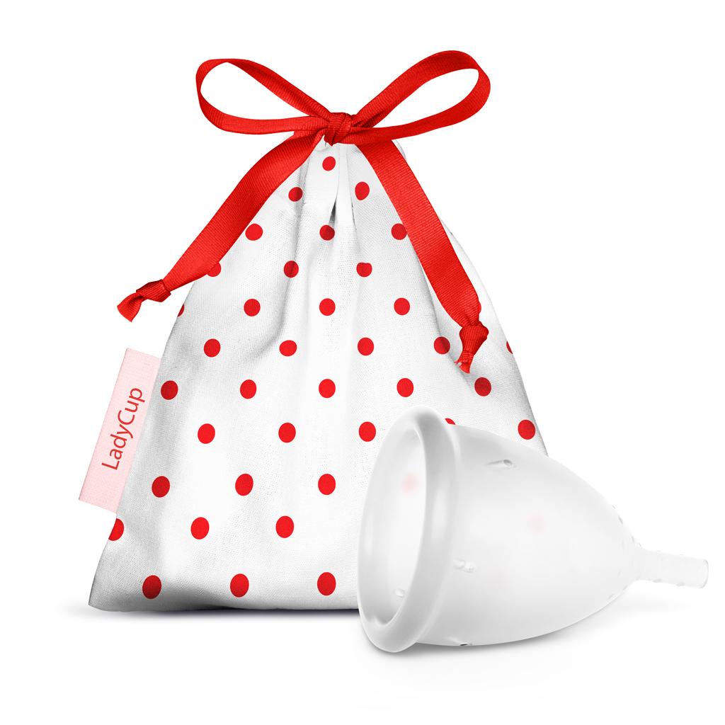 LadyCup menstruační kalíšek Transparentní