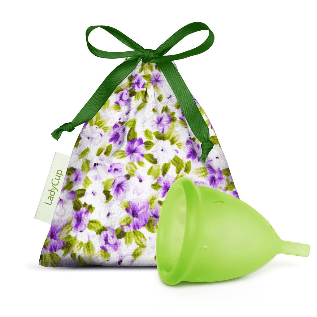 LadyCup menstruační kalíšek Zelený