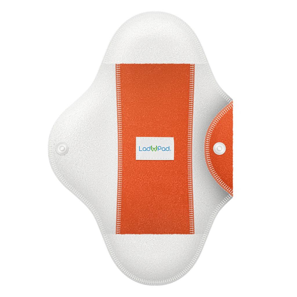 LadyPad polobarevná látková vložka s vkládací vložkou Oranžová