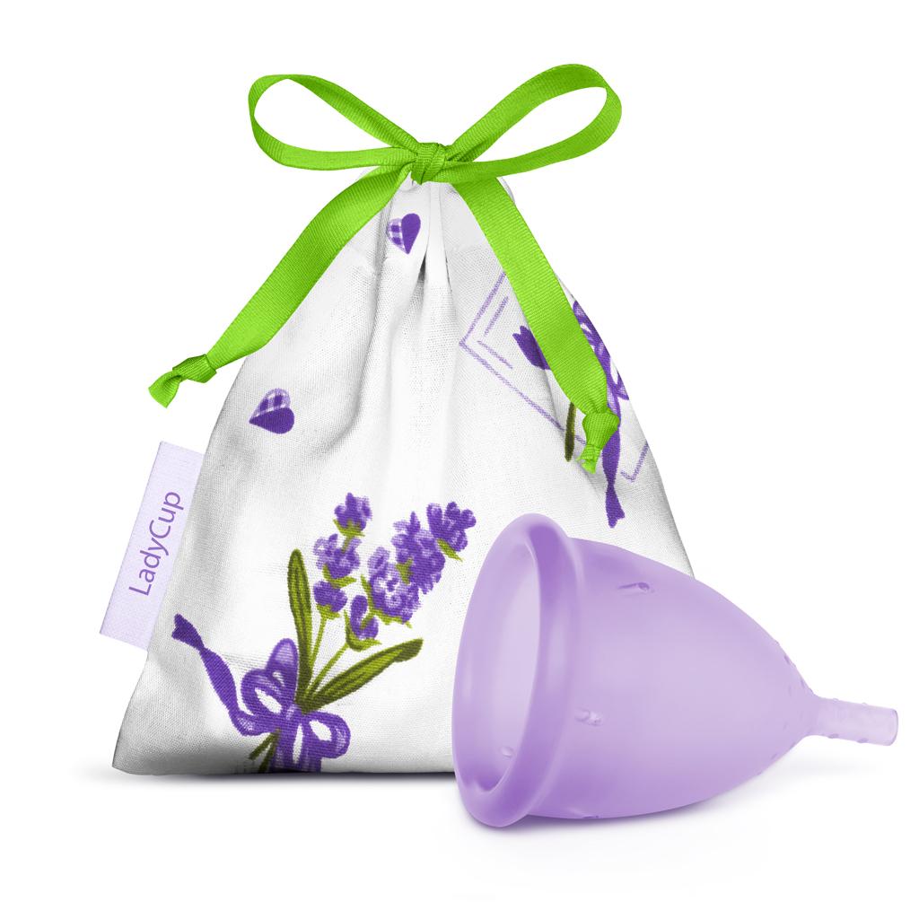 LadyCup menstruační kalíšek Dotek levandule