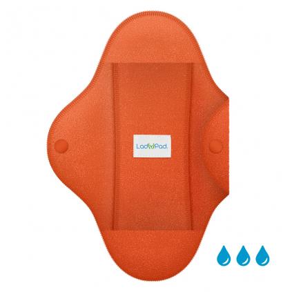 LadyPad Einlage und Slipeinlage Tangerine