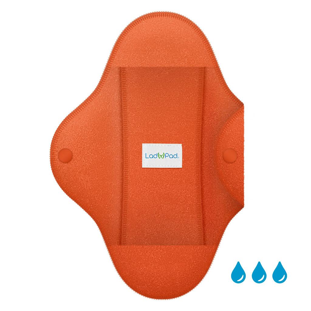 LadyPad Pad and Liner Tangerine