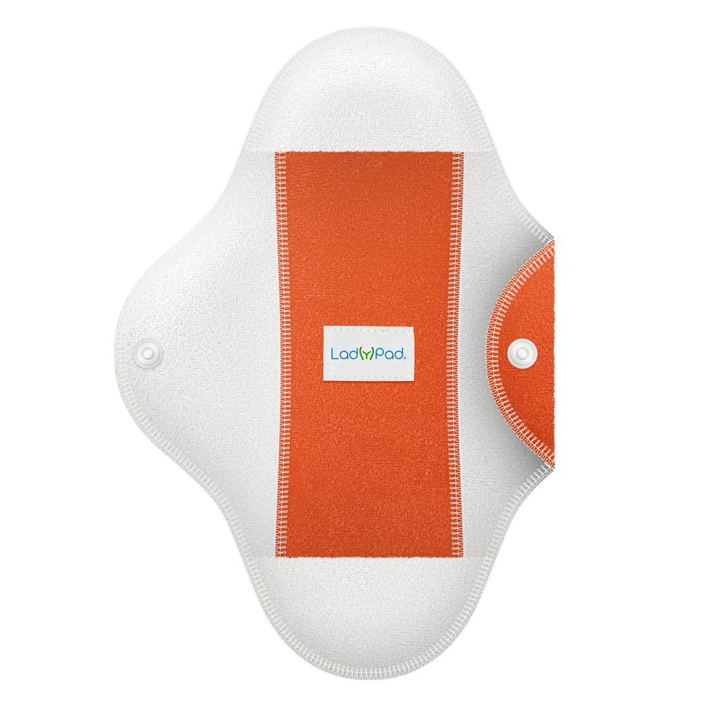 LadyPad One Half Coloured Pad and Liner Tangerine