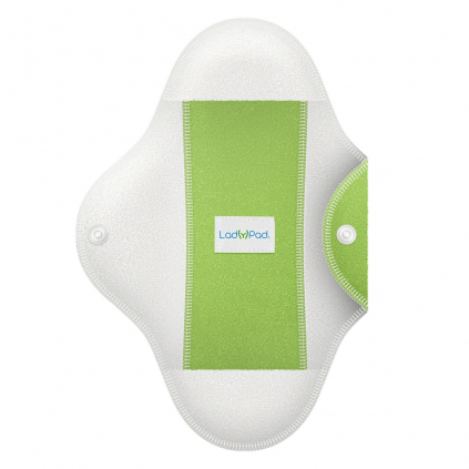 LadyPad One Half Coloured Pad and Liner Mint Green