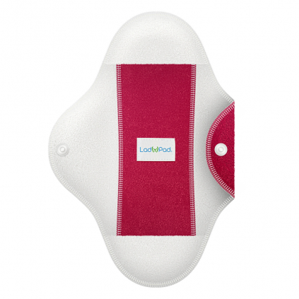 LadyPad One Half Coloured Pad and Liner French Fuchsia