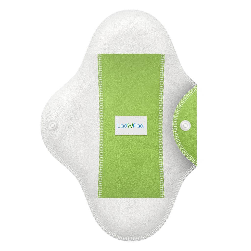 LadyPad polobarevná látková vložka s vkládací vložkou Mátová zelená (Velikost L)