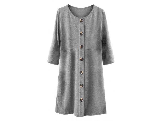 Voľné šaty s gombíkmi