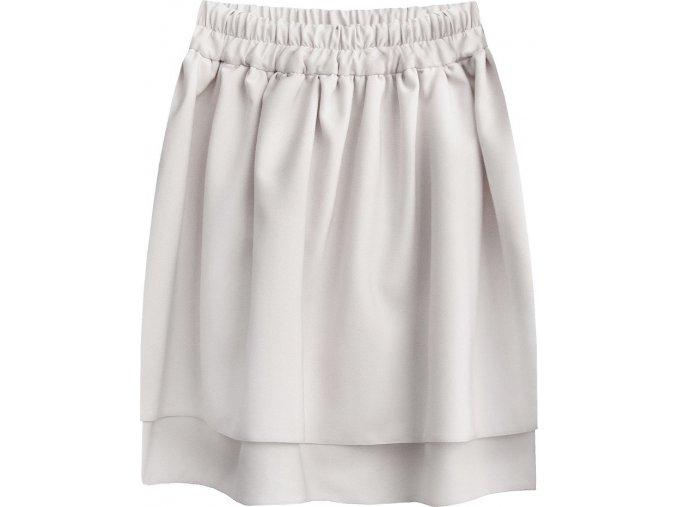 Dvojvrstvová mini sukňa