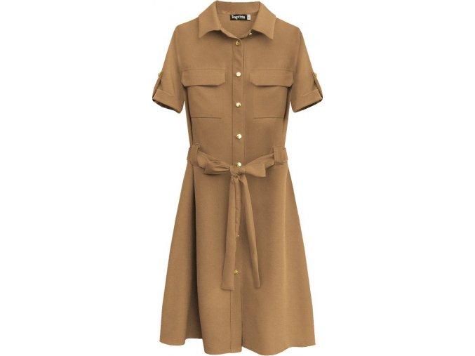 Ľahké šaty s gombíkmi