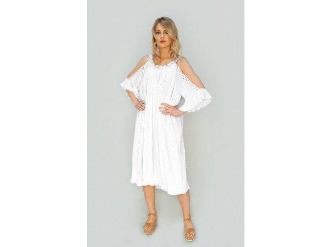 Letné šaty s holými ramenami