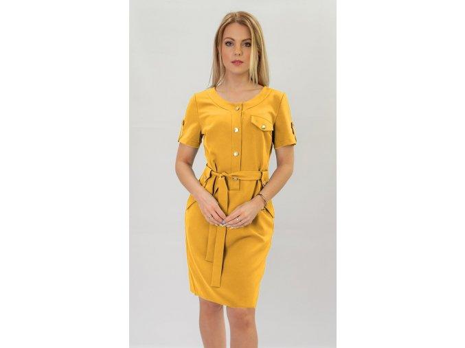 Elegantné šaty s gombíkmi