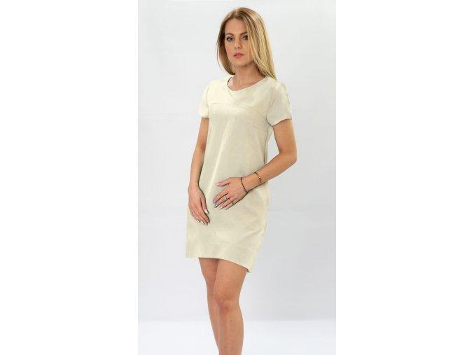 Jednoduché šaty s krátkym rukávom
