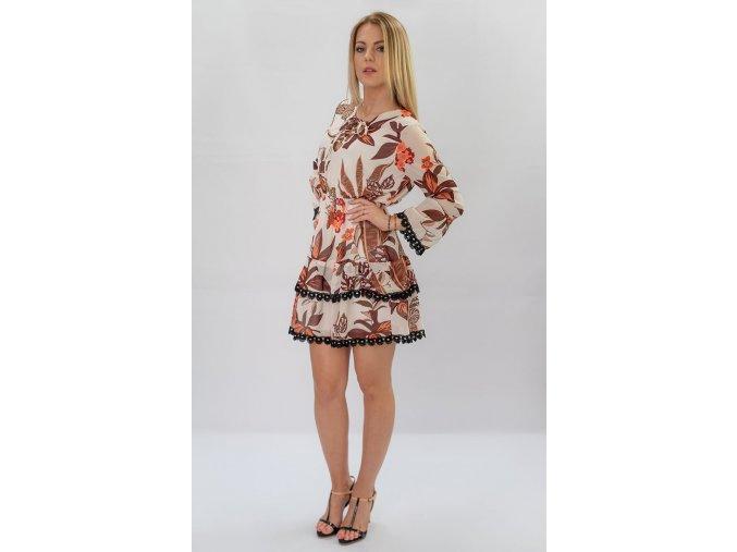 Šifónové šaty s riasením