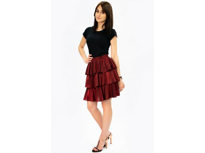 Lesklá nazberaná sukňa