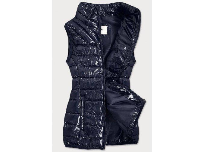 Lesklá prešívaná vesta