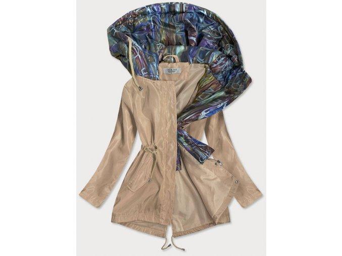 Dámska bunda s ozdobnou kapucňou
