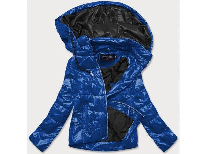 Krátka prechodná bunda s farebnou kapucňou (BIG)