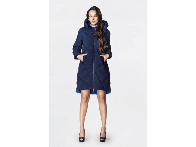 Dlhá zimná bunda s vysokým límcom
