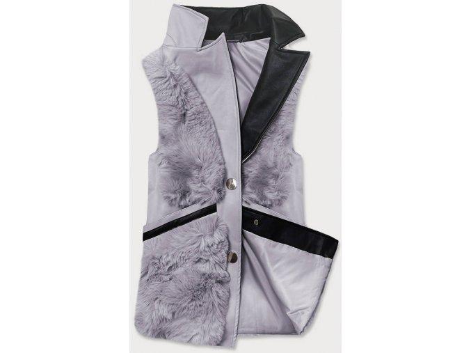 Elegantná huňatá vesta