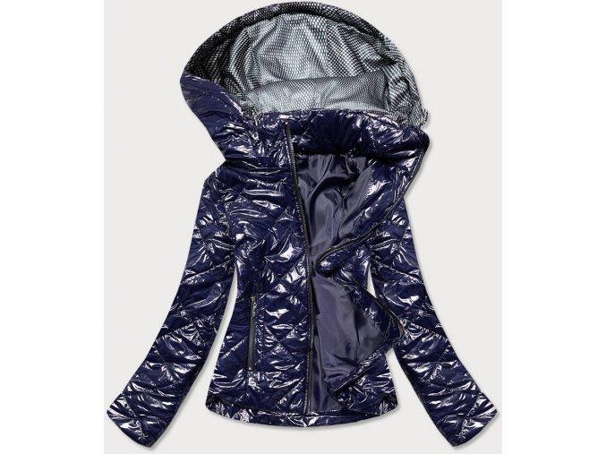 Lesklá dámska prechodná bunda (BIG)