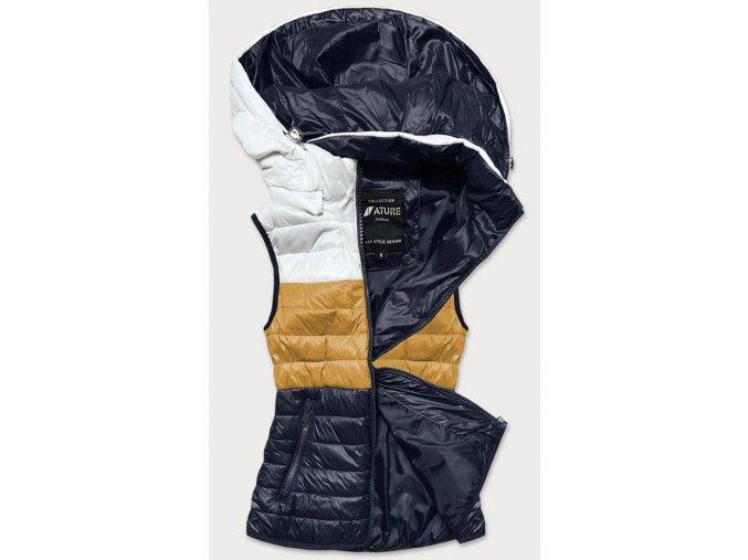 Trojfarebná prešívaná vesta