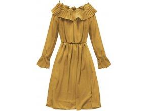 Šifónové šaty s volánmi