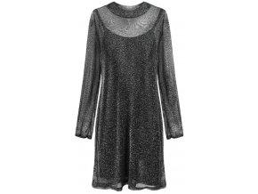 Lesklé glitrové šaty