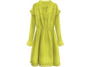 Vyšívané bavlnené šaty