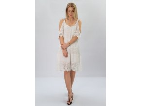Biele šaty BOHO