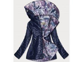 Dámska bunda s farebnou podšívkou
