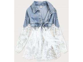 Dámska riflovo čipkovaná bunda
