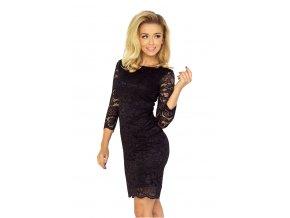 Šaty s krajkou - černá 145-1