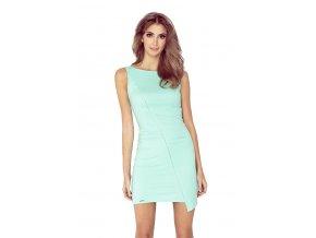 MM 004-3 Asymetrické šaty - mátový