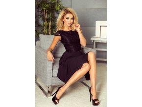 157-2 MARTA šaty s krajkou - černé